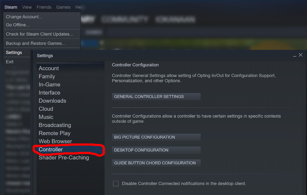 steam what is guide button focuses steam