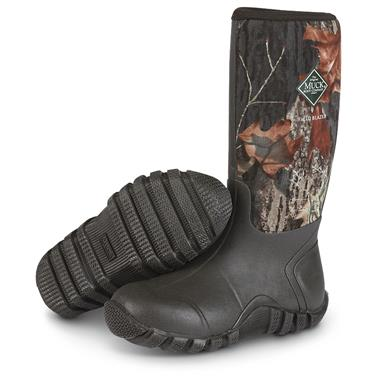 redhead guide insulated side zip camo rubber boots for men
