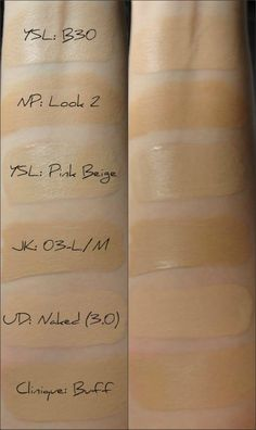 ysl touche eclat foundation color guide
