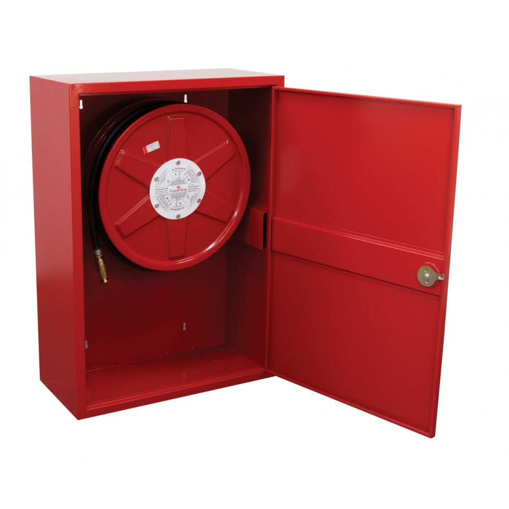 fire hose reel with swing guide arm