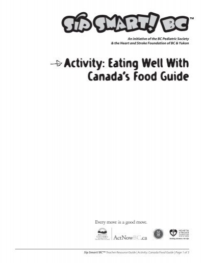 canada food guide heart and stroke