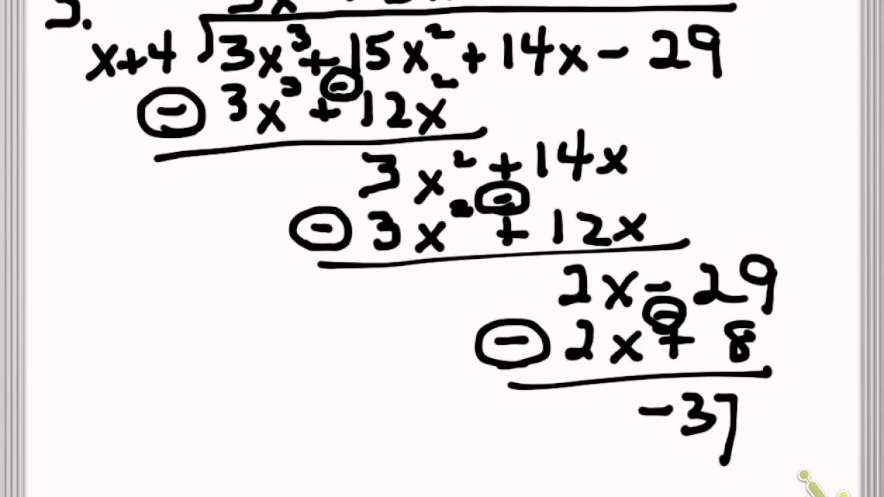 polynomial long division guided notes