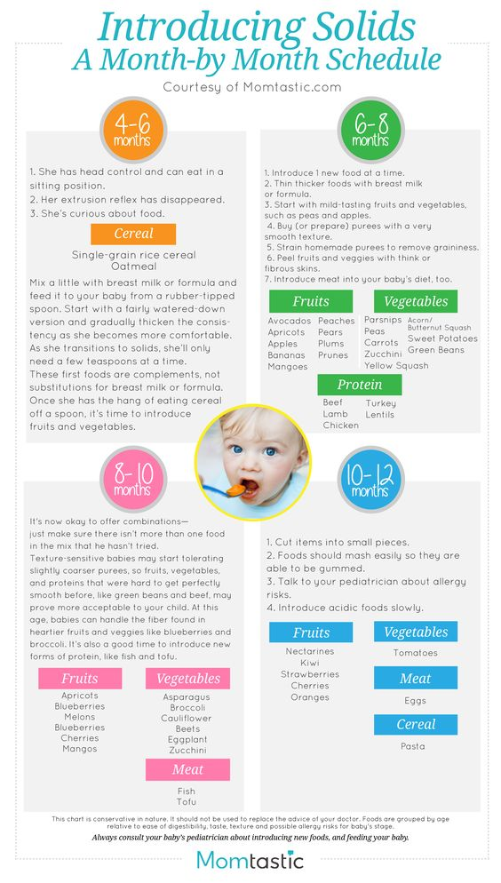 baby solids feeding guide printable