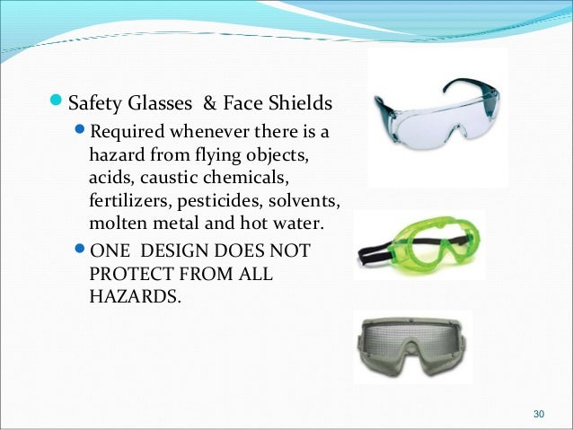 eye and face protection use and selection guide