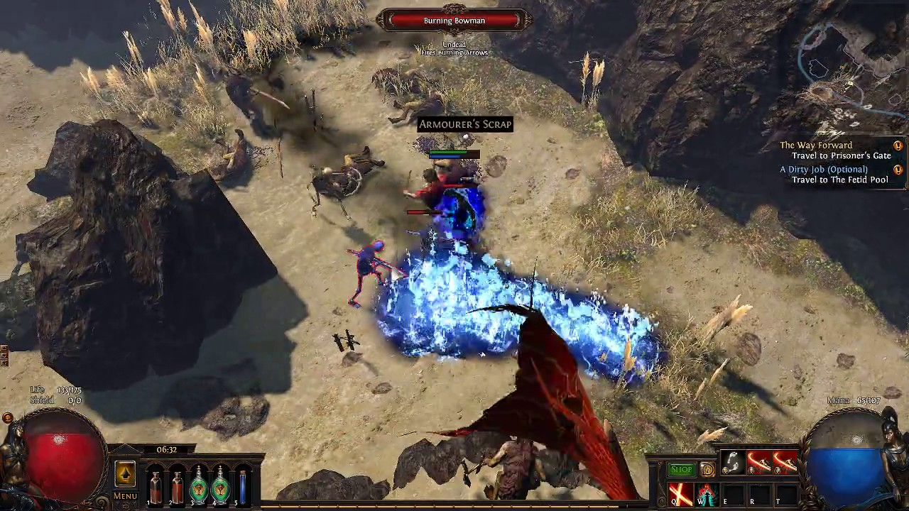 path of exile sunder leveling guide