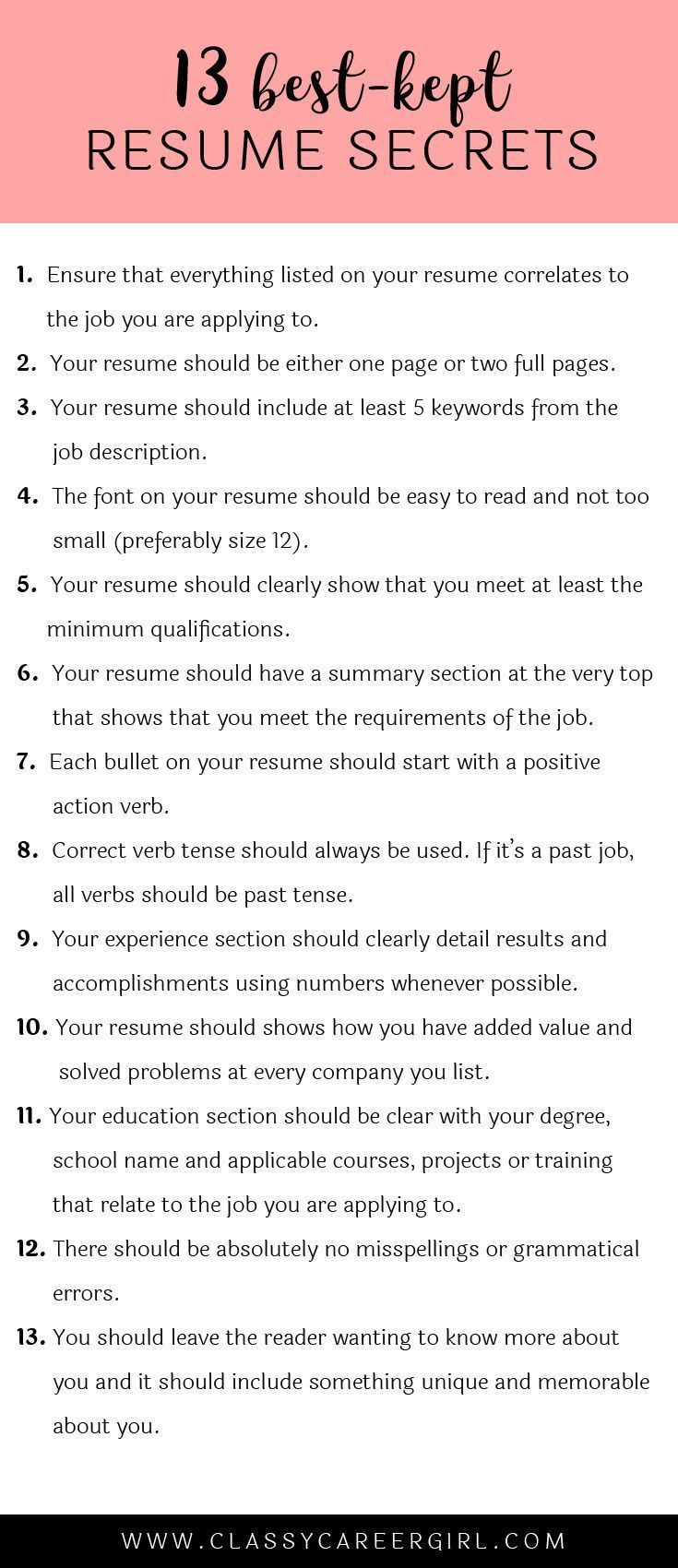 nsw dec resume writing guide